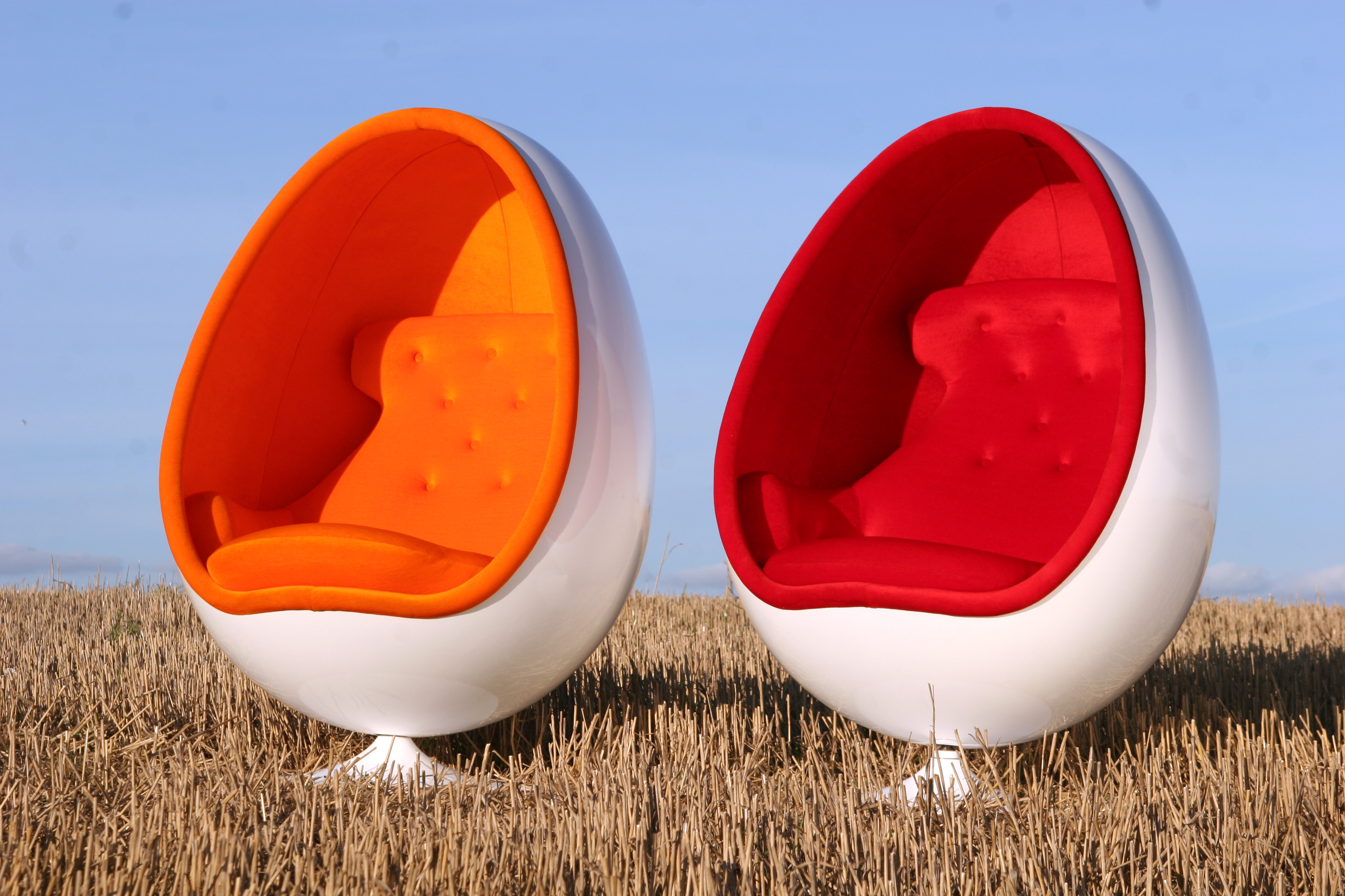 Egg Shaped Chairs ...