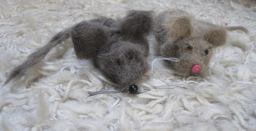 making animals from cat fur