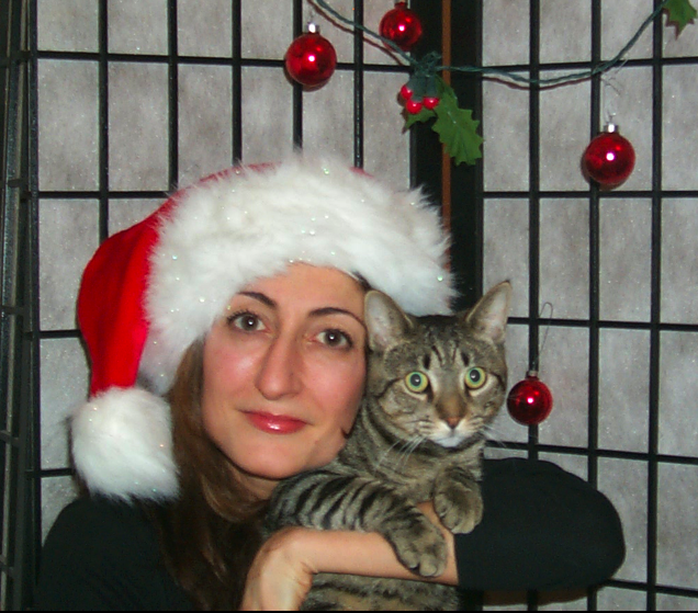 Kip and Tamar Arslanian I HAVE CAT celebrate Christmas