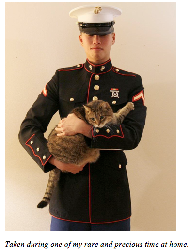 Man in Uniform with a cat