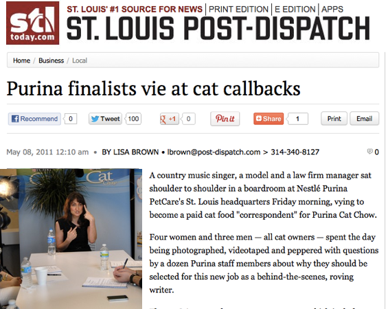 St Louis Post Dispatch Purina Cat Correspondant