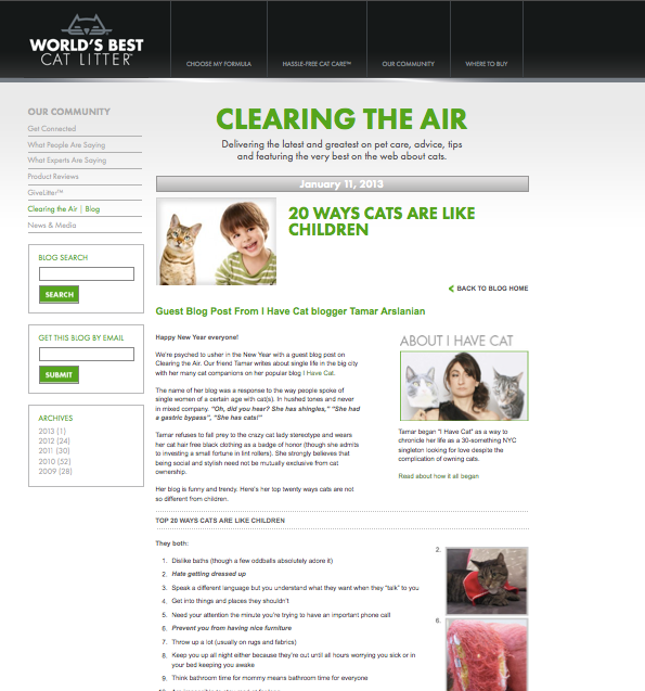 Clearing the Air World's Best Cat Litter