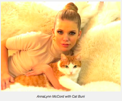AnnaLynne McCord with Cat Buni