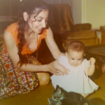Baby Tamar  Arslanian with Kittens