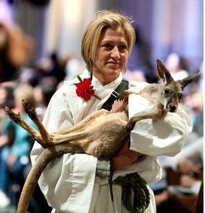 Edie Falco at the Blessing of the Animals at Saint John The Divine in 2012 (photo source: paperblog.com)