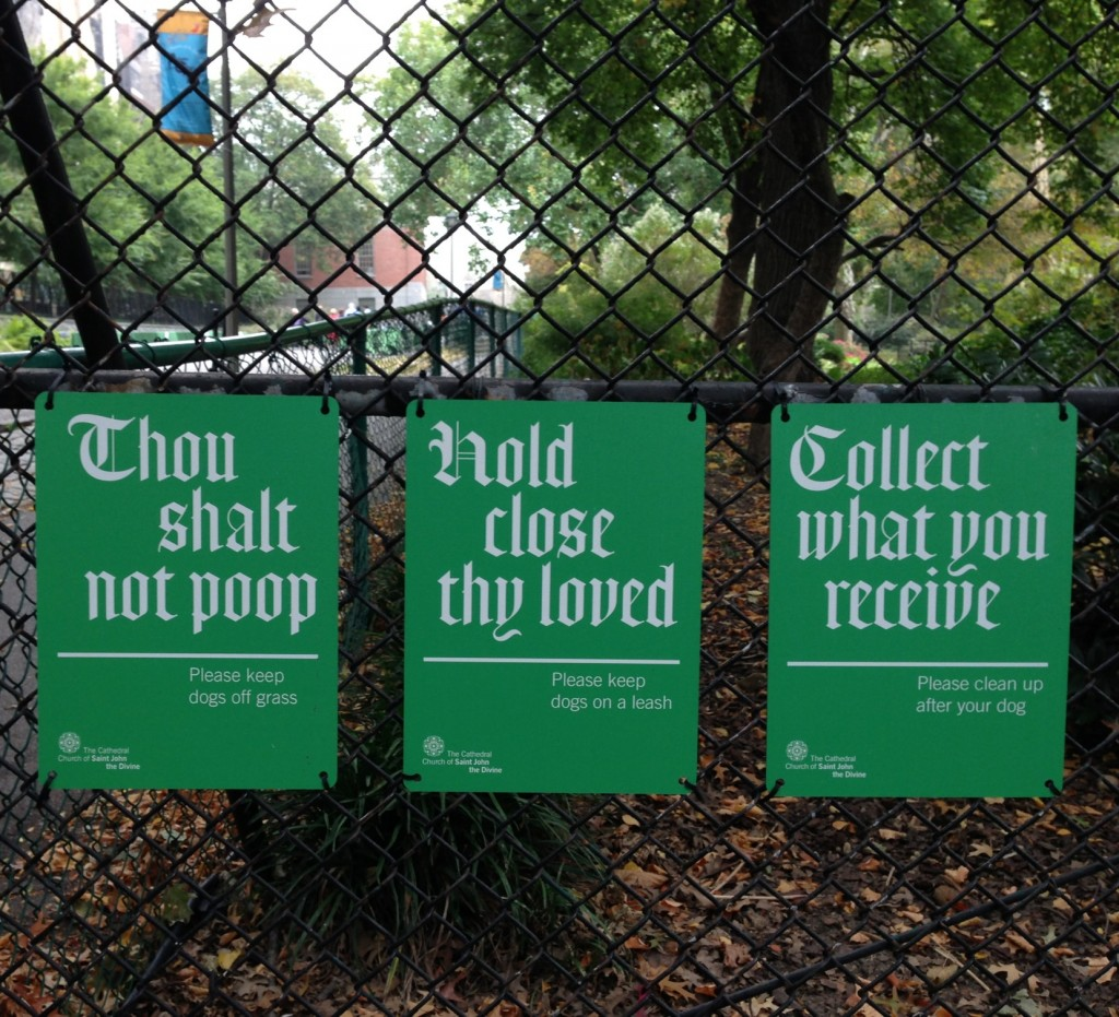 Saint John The Divine, Thou Shalt Not Poop