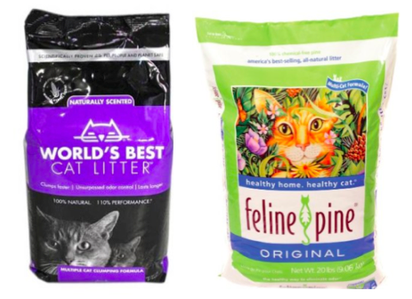 Worlds Best Cat Litter and Feline Pine Litter