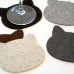 FeltPlanet Cat Coasters