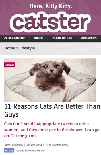 11 Reasons Cats Are Better Than Men