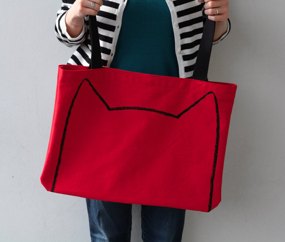 Xenotees Red Cat Tote Bag