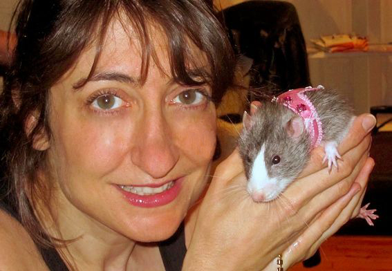 Tamar Arslanian with rat