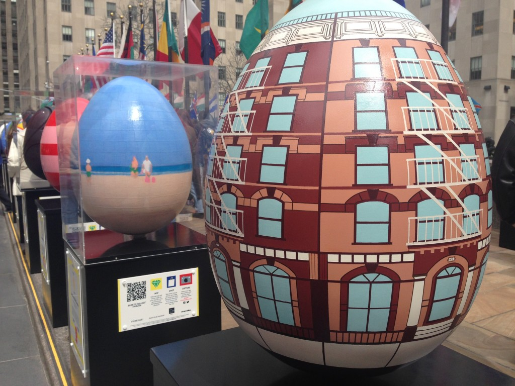 Eggs at Rockefeller Center