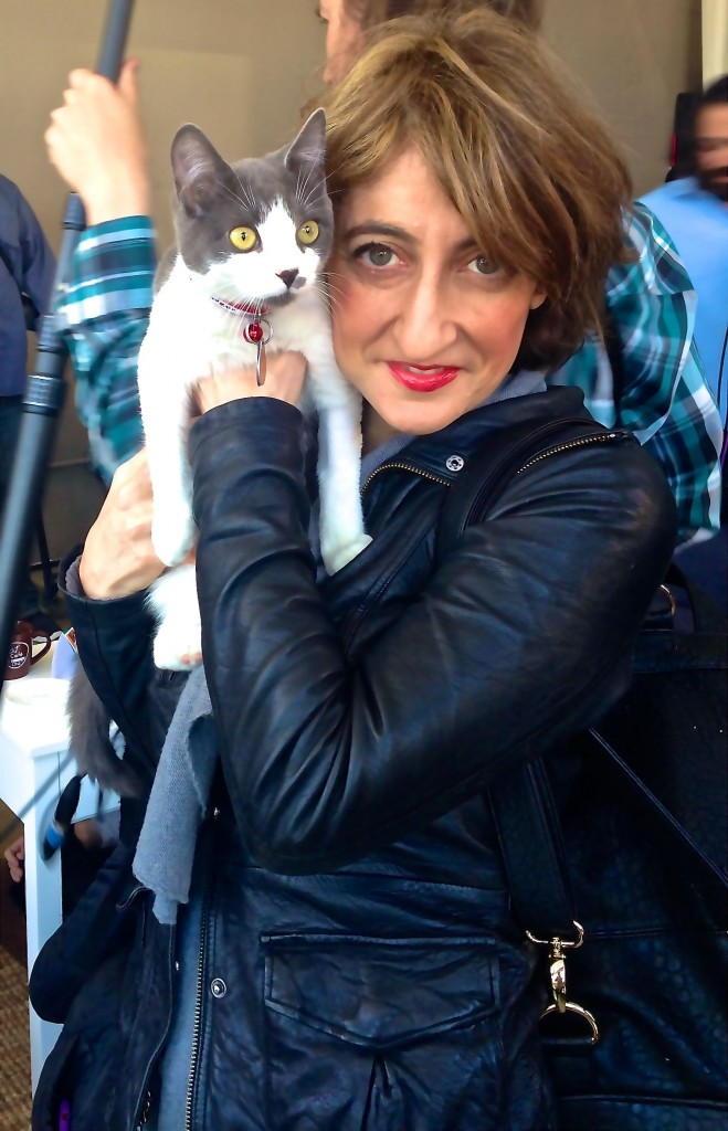 Me and Sushi at NYC Cat Cafe
