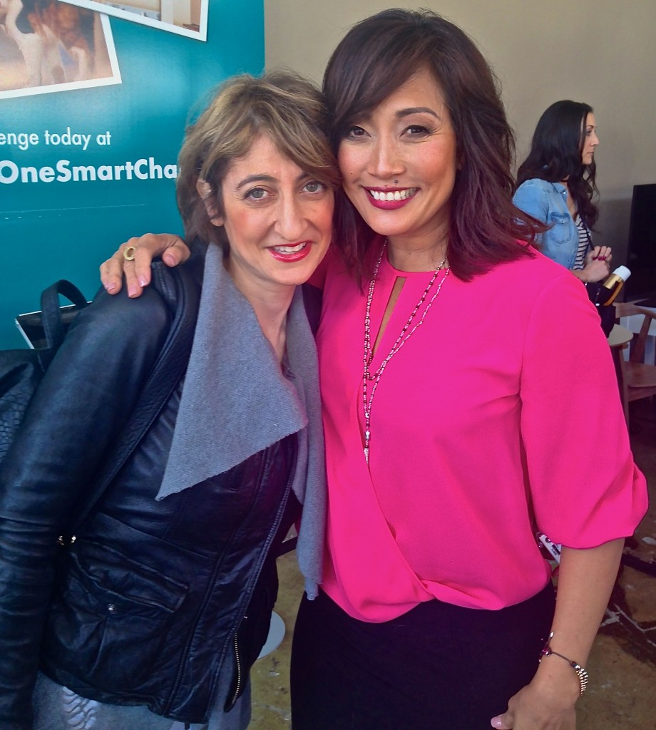 Tamar Arslanian and Carrie Ann Inaba at NYC Cat Cafe