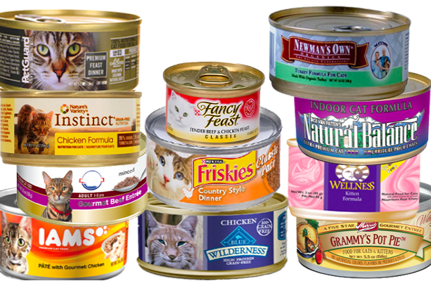 Cans of Cat Food