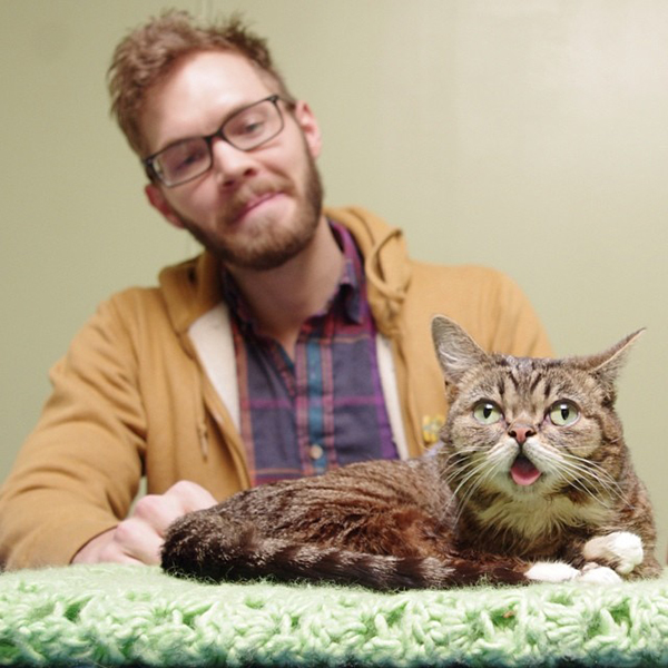 Andrew and Lil Bub