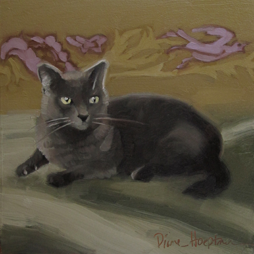 "One of Diane Hoeptner's first cat portraits was of Coco. She refers to it as ""shockingly bad!"" I quite like it!"