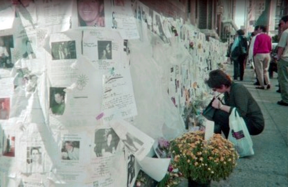 This photo was taken at the Armory on 25th and Lexington right by where I live. It's where friends and family were asked to bring DNA samples and where everyone hung missing persons posters for loved ones.