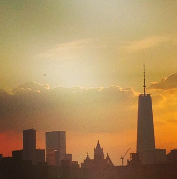 The new Manhattan skyline seen from Brooklyn at sunset last month.