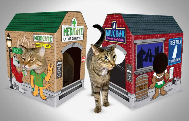 meowses cardboard cat houses with personality i have cat. Black Bedroom Furniture Sets. Home Design Ideas