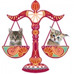Libra scales with kittens