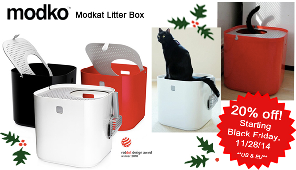 Modern Litter Box Holiday discounts and specials! Where modern cat's go!