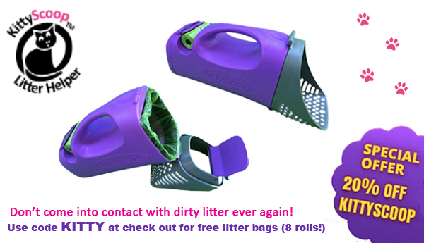 KITTYSCOOP Litter Helper discount for holidays!