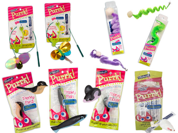Purrrk Playfuls silvervine toy collection