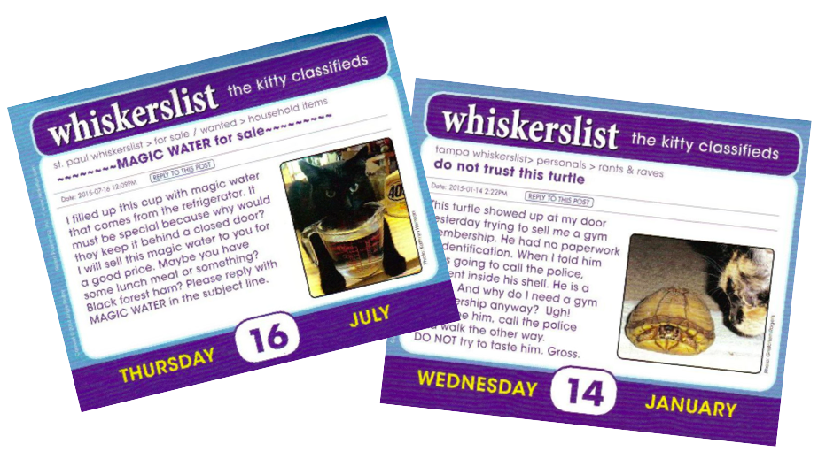 Whiskerslist kitty classifieds 2015 calendar