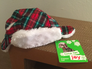 lumber jack holiday cat hat from PETCO