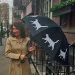 Tamar Arslanian with Cat Umbrella