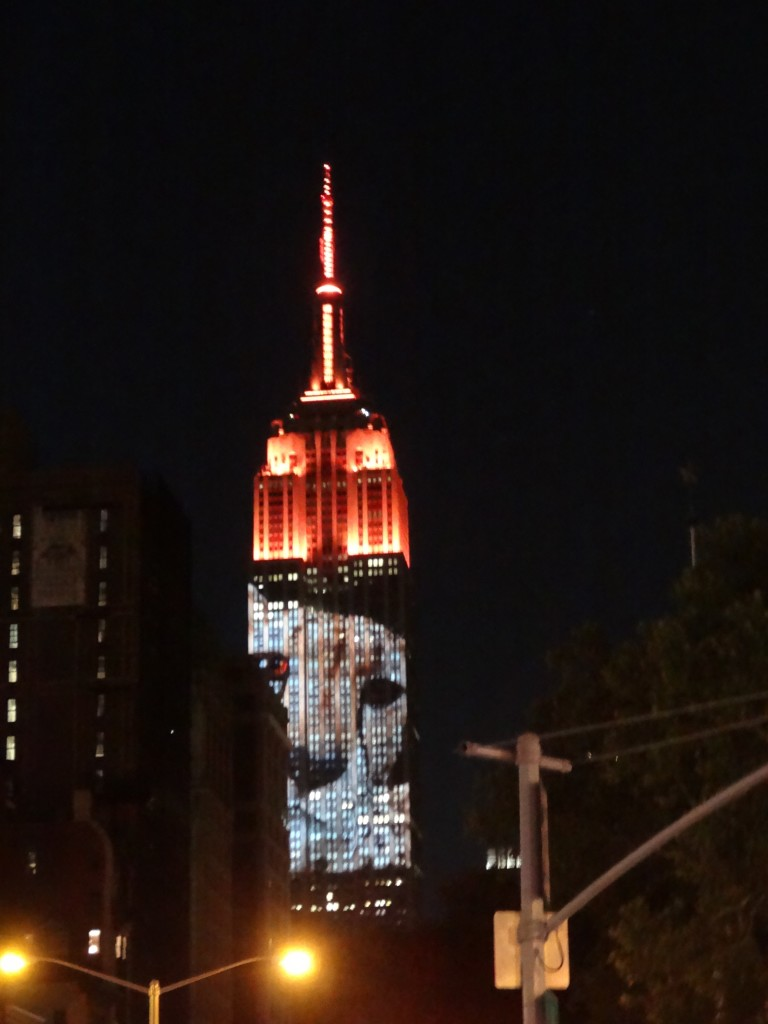 Endangered Species Projection Against Empire State Building