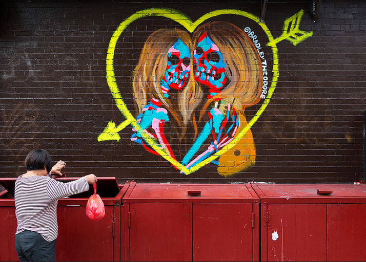Kate Moss and Cara Delevingne by Bradley Theodore  by Andriy Prokopenko
