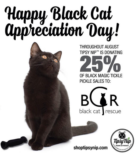 25% of sales donated to black cat rescue
