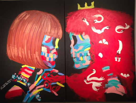 Bradley Theodore Anna Wintour and Grace Coddington