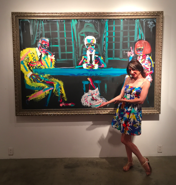 bradley Theodore Choupette Karl Lagerfeld painting