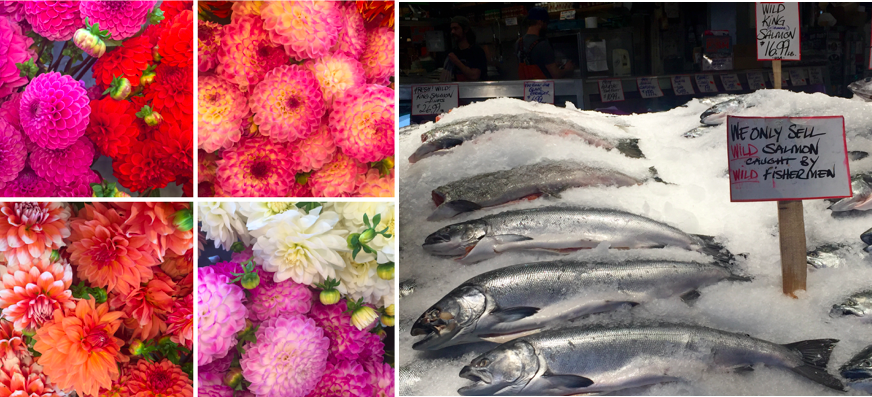 Pike Place Flowers and Fish
