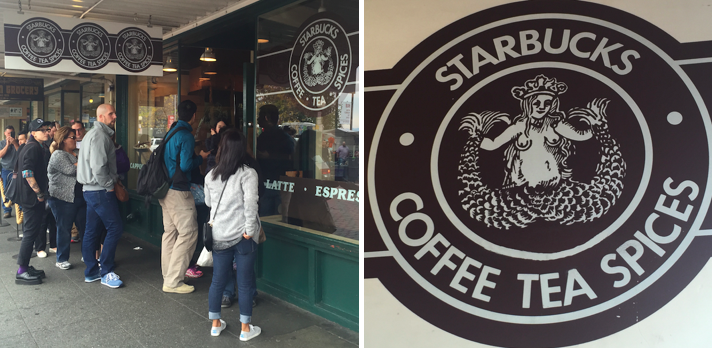 Starbucks line and logo
