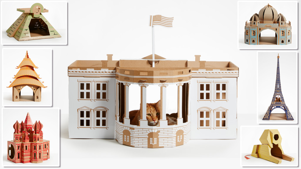 Landmark play houses for cats and small animals
