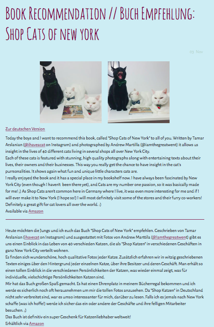 Shop Cats of New York book review